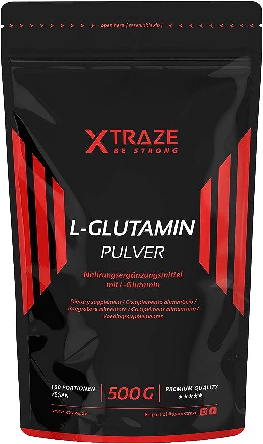 L-Glutamina en Polvo 500 g, Sin Sabor Alta Dosis Vegana, 100% Pura, Natural Suplemento sin Aditivos Innecesarios, Made in Germany, Aminoácido para el ...