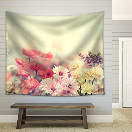 Amazon Com Wall26 Variation Of Colorful Spring Flowers Fabric