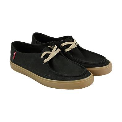 Vans Rata Vulc Sf Mens Black Canvas Casual Dress Lace Up Boat Shoes Shoes  6.5