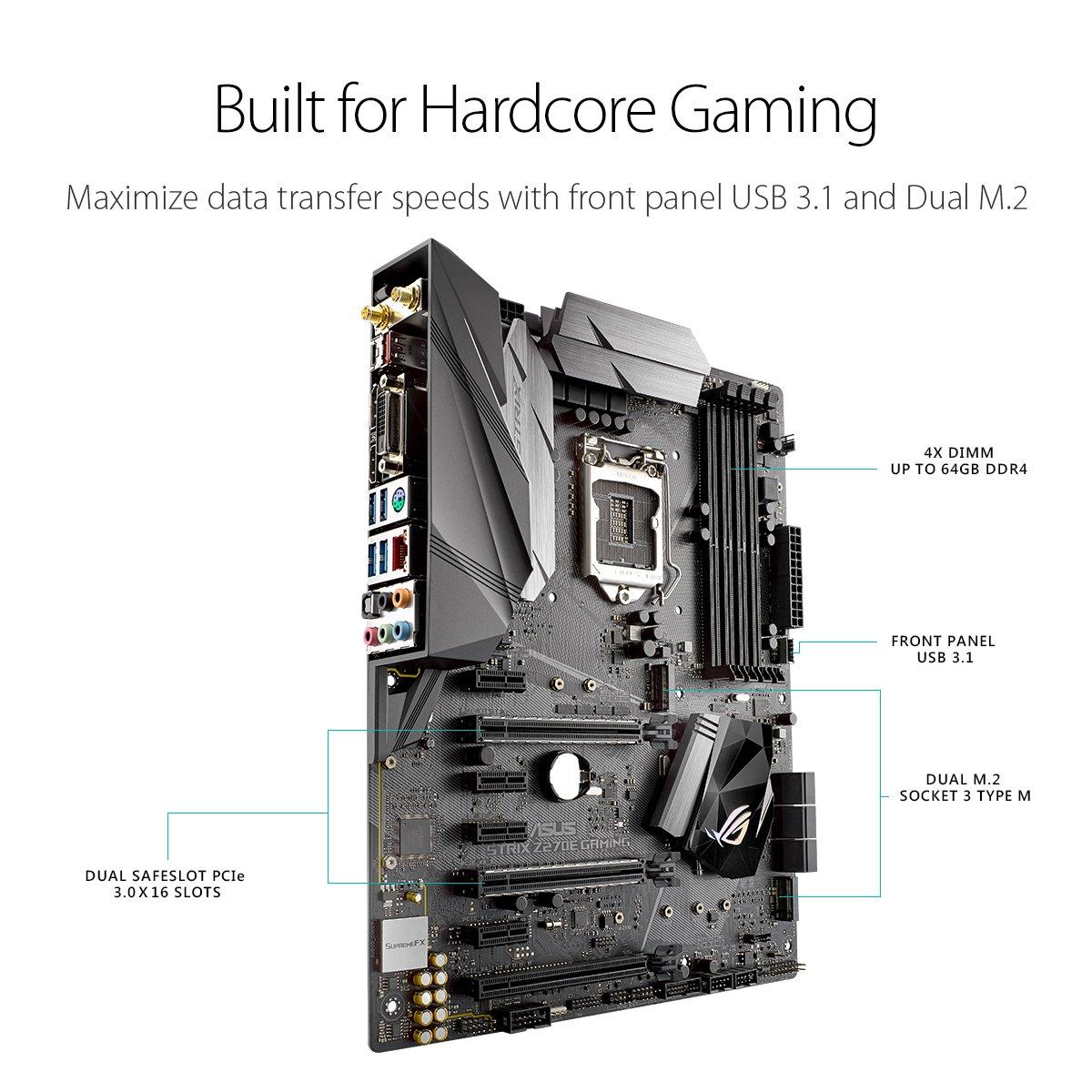 Amazon.com: ASUS ROG Strix Z270E Gaming LGA1151 DDR4 DP HDMI DVI M.2 ...