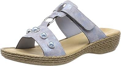rieker Damen Pantoletten Blau Schuhe, Größe:39 | real