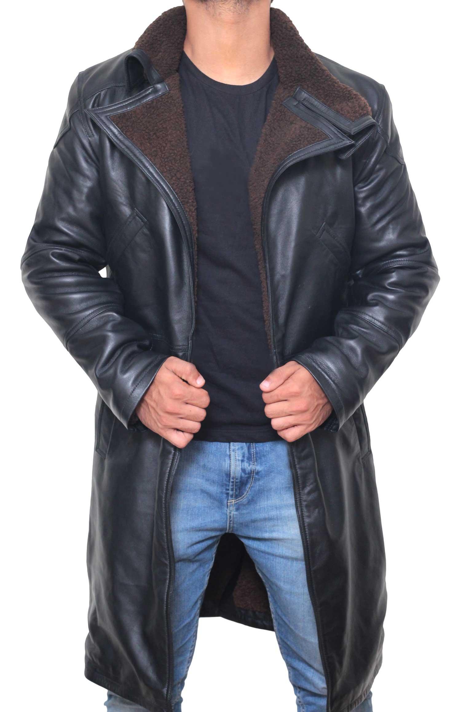 BlingSoul Ryan Gosling Blade Runner 2049 Officer K Leather Coat Real Leather (2XL) [RL-BLRN-BL-2XL]