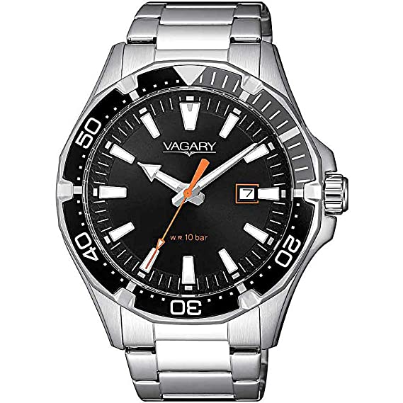 in vendita 4c34a 93c92 Orologio uomo Vagary by Citizen Acqua39 Black Steel ref. IB8-411-51