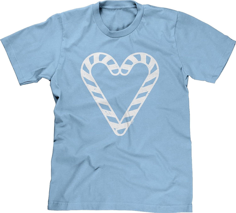 Blittzen Mens T-shirt Candy Cane Heart