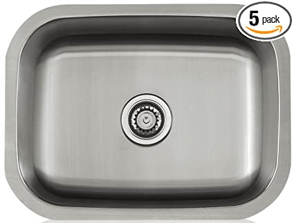 Apogee By Lenova Sinks   18 Gauge Stainless Steel Undermount Kitchen Sink    5 Pack