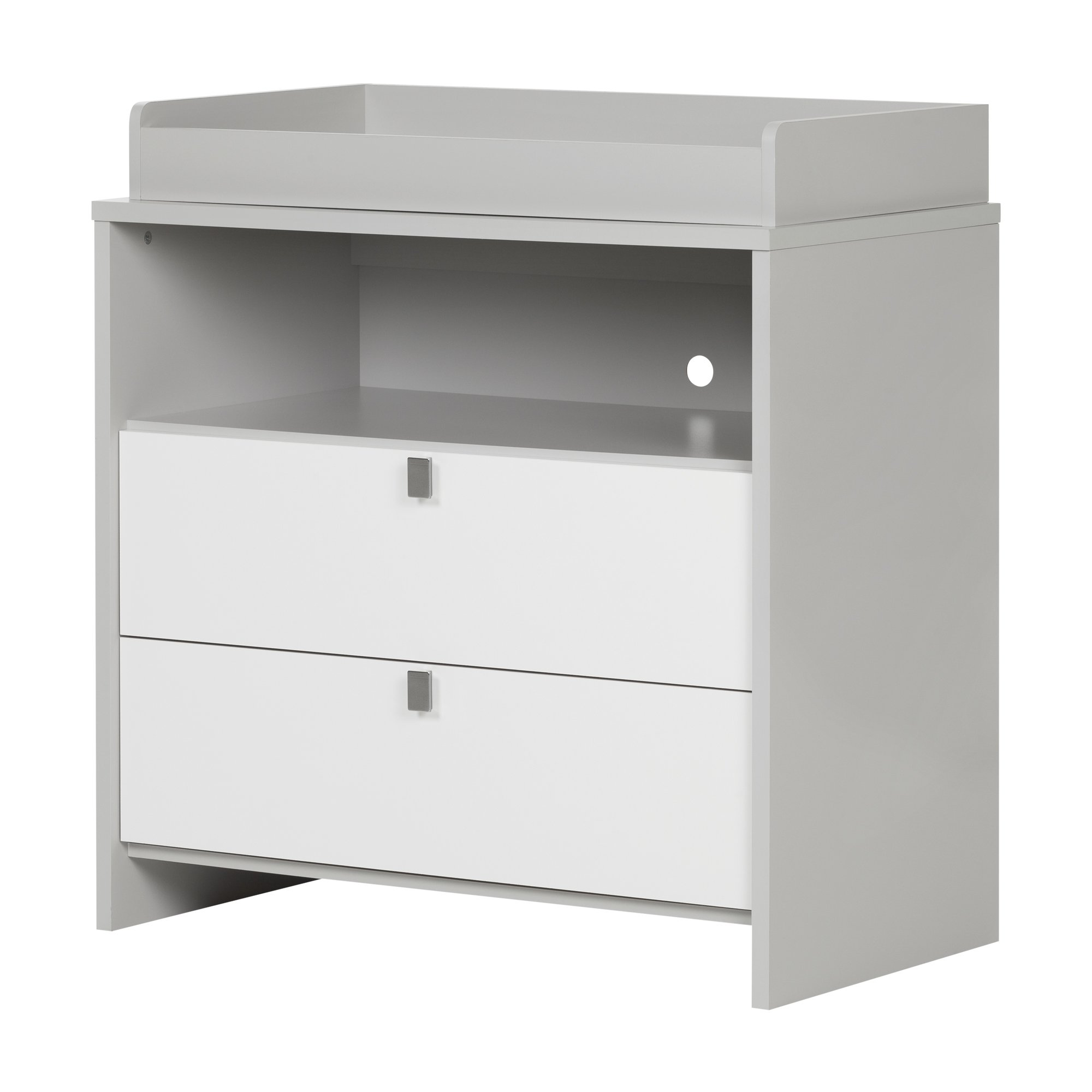 South Shore Cookie Changing Table, Soft Gray and Pure White