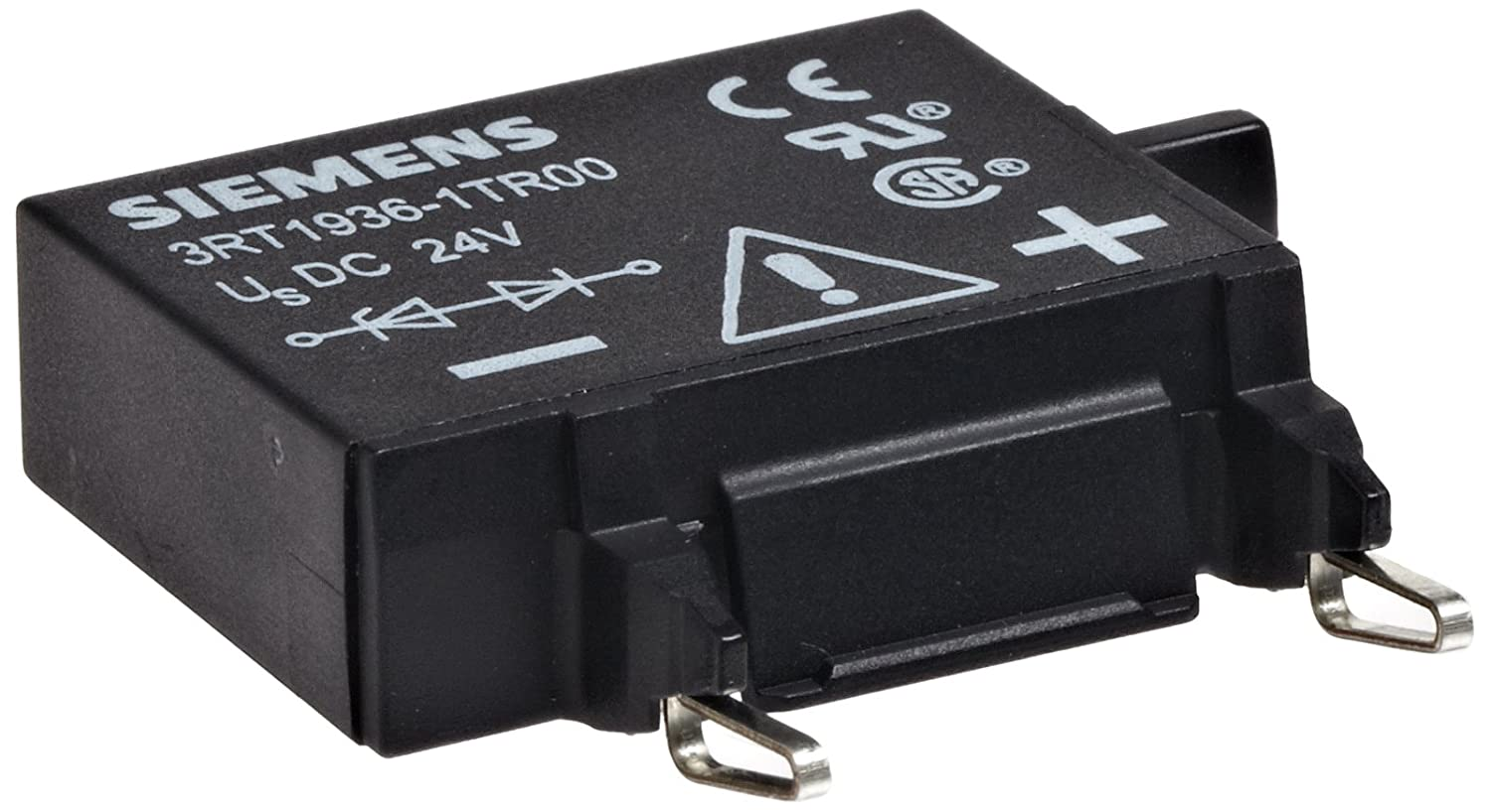 Diode Assembly Siemens 3RT19 36-1TR00 Surge Suppressor S3 Size S2 24VDC Rated Control Supply Voltage 3RT19361TR00 Plugging Onto Bottom