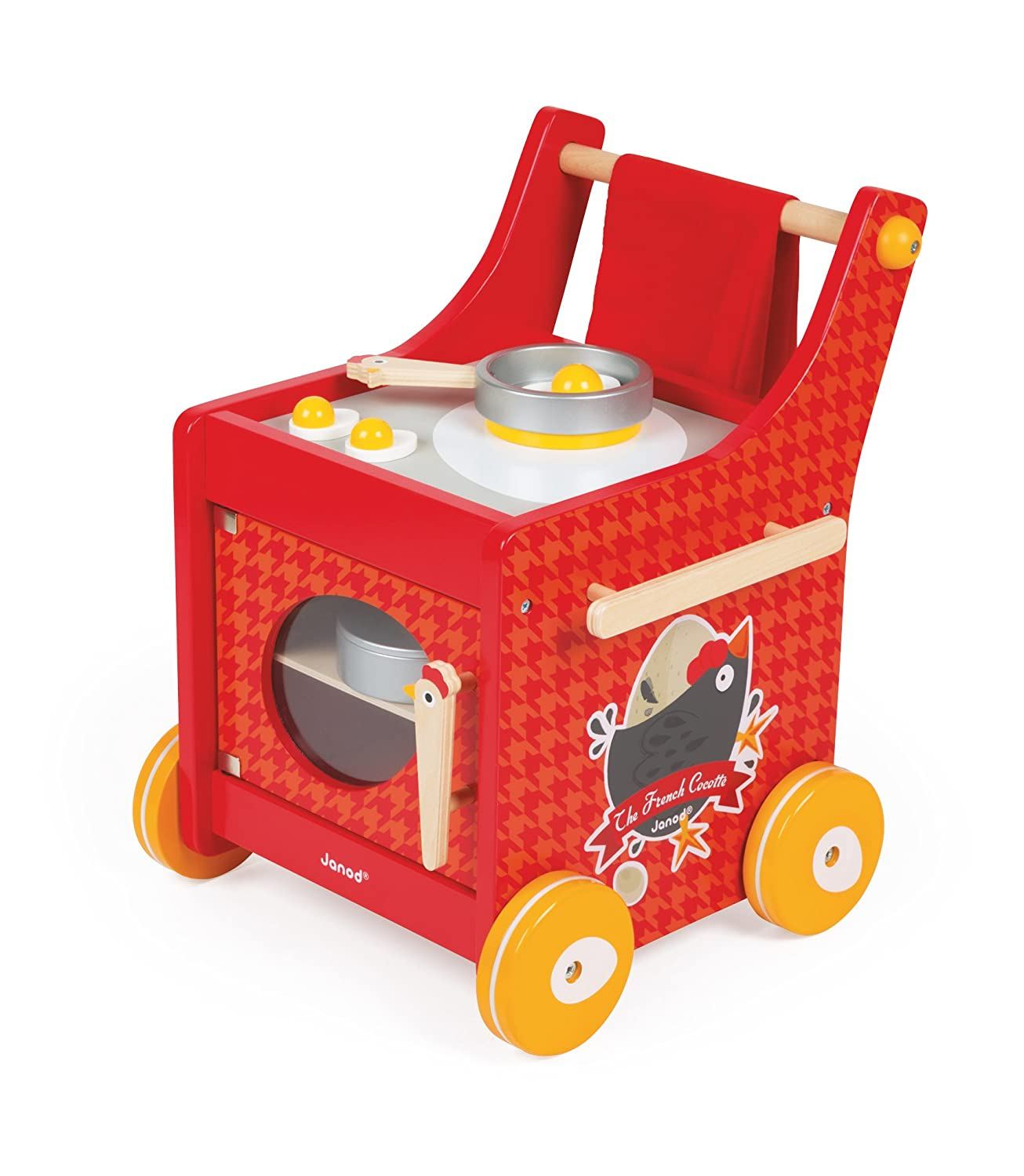 Kinderküche Rot - Janod French Cocotte Trolley
