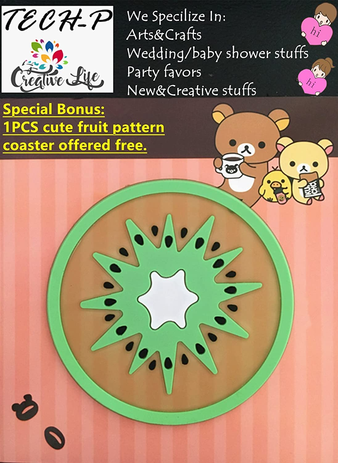 Circle Hand Press Album Cards Paper Craft Punch,Card Scrapbooking Engraving Kid Cut DIY Paper Craft Punch. 50mm TECH-P Creative Life 2- Inch