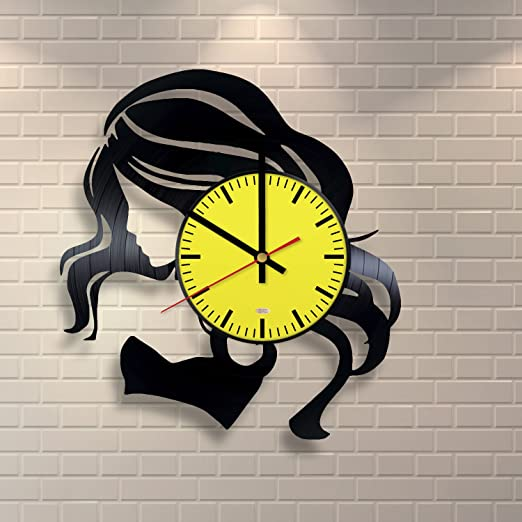 Gift Ideas for his and her Get Unique Room Wall Decor Wicked Handmade Vinyl Record Wall Clock Modern Unique Home Art Design /…