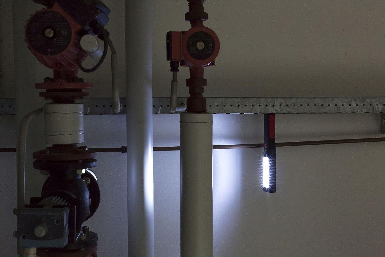 LAMPE TORCHE BALADEUSE MAGNETIQUE ECLAIRAGE LED AIMANT AVEC CROCHETS LOT DE 2