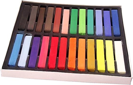 Pack de Tizas para el Pelo - 24 Colores: Amazon.es: Juguetes y juegos