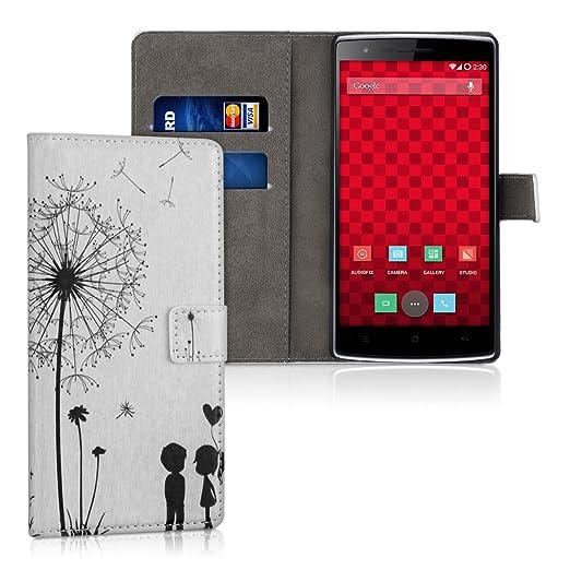106 opinioni per kwmobile Custodia portafoglio per OnePlus One- Cover a libro in simil pelle