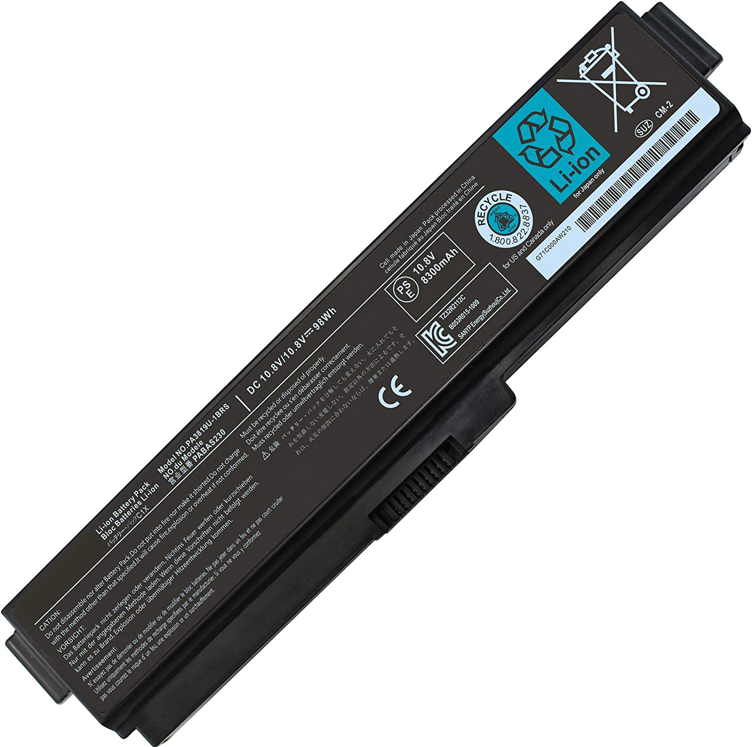98WH PA3817U-1BRS PA3819U Battery Compatible with Toshiba Satellite A665 A665D C655 L635 C675 C675D L645 L655 L655D L675 L745 L755 L775D P745 P755 P775 M645 A660 S6086 S6050 S4050 S4070 S5170 S5167