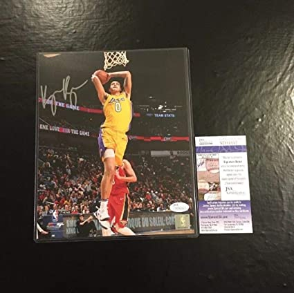 310756b5176 Kyle Kuzma Lakers Autographed Signed Memorabilia 8x10 Basketball Photo JSA  Certified #2 at Amazon's Sports Collectibles Store