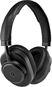 Master & Dynamic MW65 Active Noise-Cancelling (Anc) Wireless Headphones – Bluetooth Over-Ear Headphones with Mic - Black Metal/Black Leather