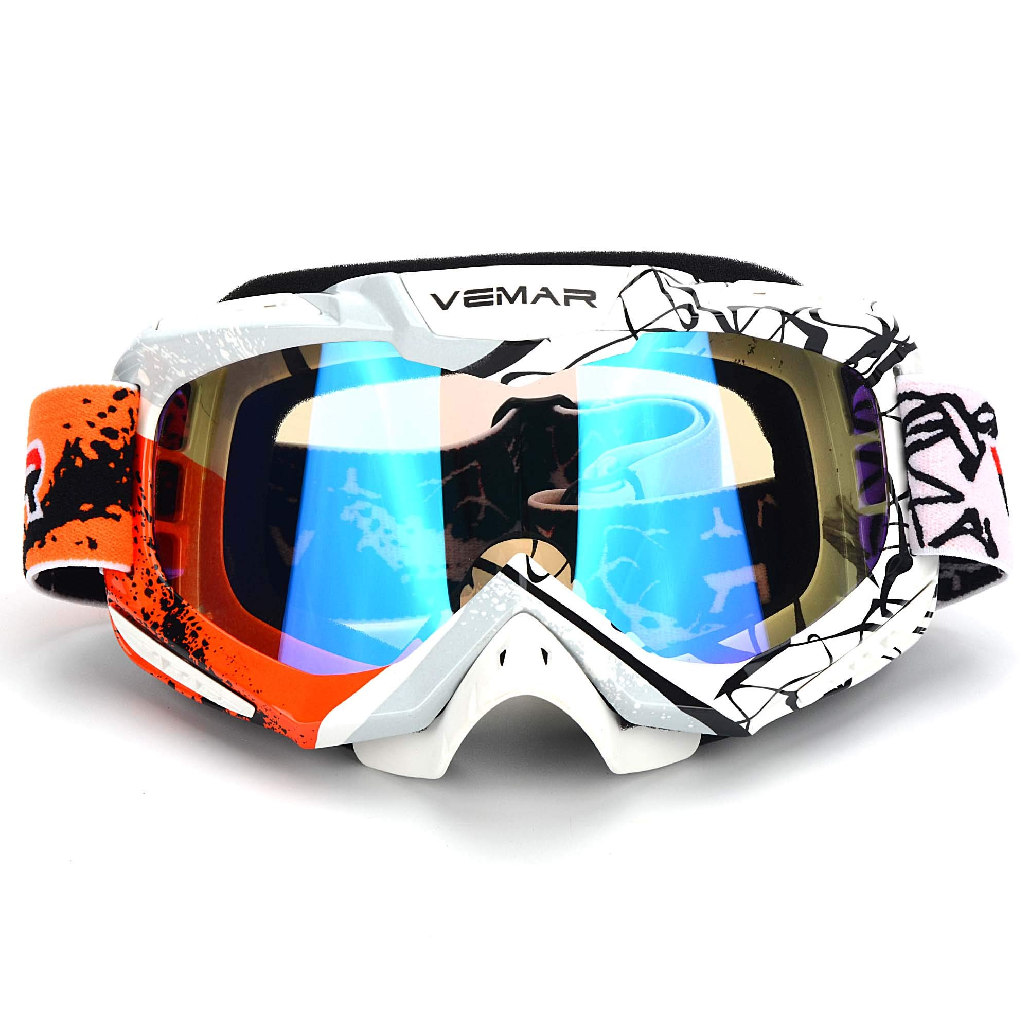 Polarized Sport Motorcycle Motocross Goggles ATV Racing Goggles Dirt Bike Tactical Riding Motorbike Goggle Glasses, Bendable Windproof Dustproof Scratch Resistant Protective Safety Glasses by Ubelly