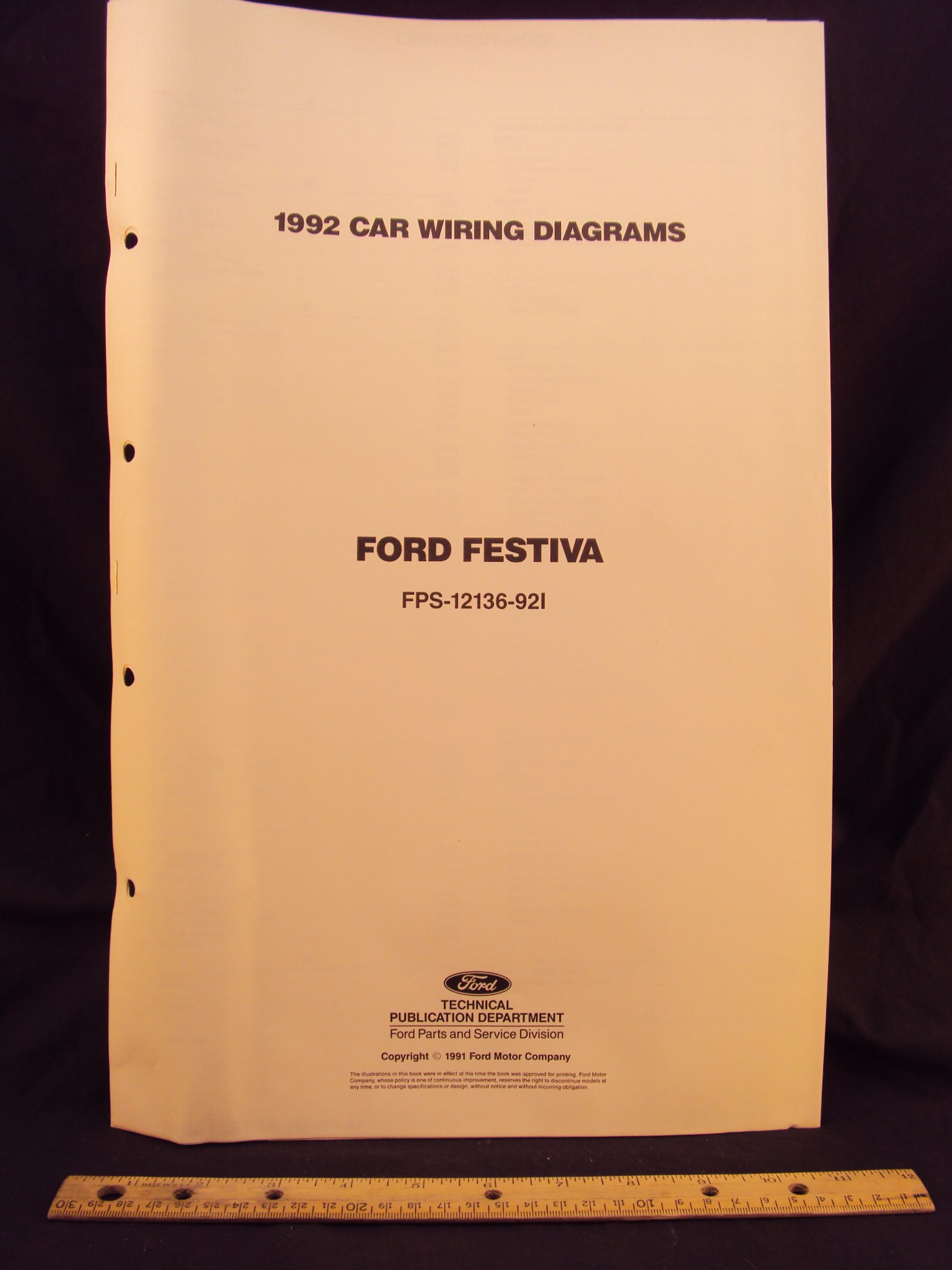 1992 ford festiva electrical wiring diagrams schematics 1992 Chevy Cavalier Wiring Diagram