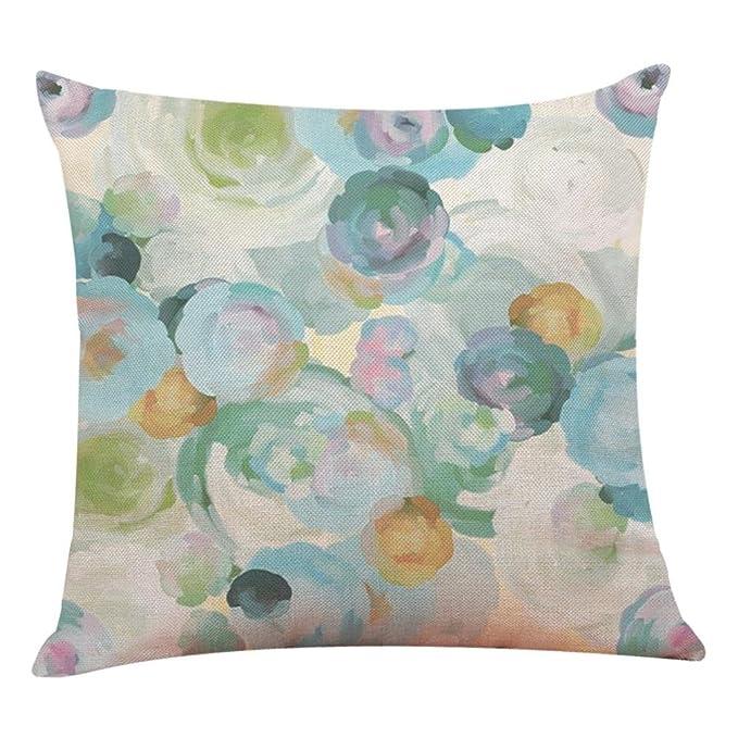 WM & MW 2018 Pillow Cases,Spring Floral Cushion Cover Throw Pillow Covers Home Decor Sofa Car Cushion Case (I)