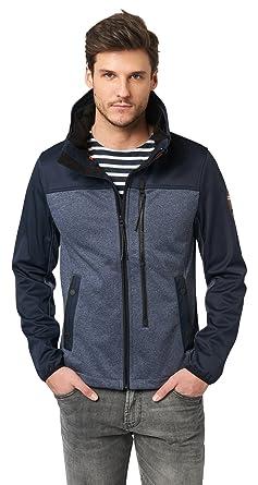 502f6a0f842922 Tom Tailor Men's Softshell Jacket Long Sleeve Jacket - Blue - Medium ...