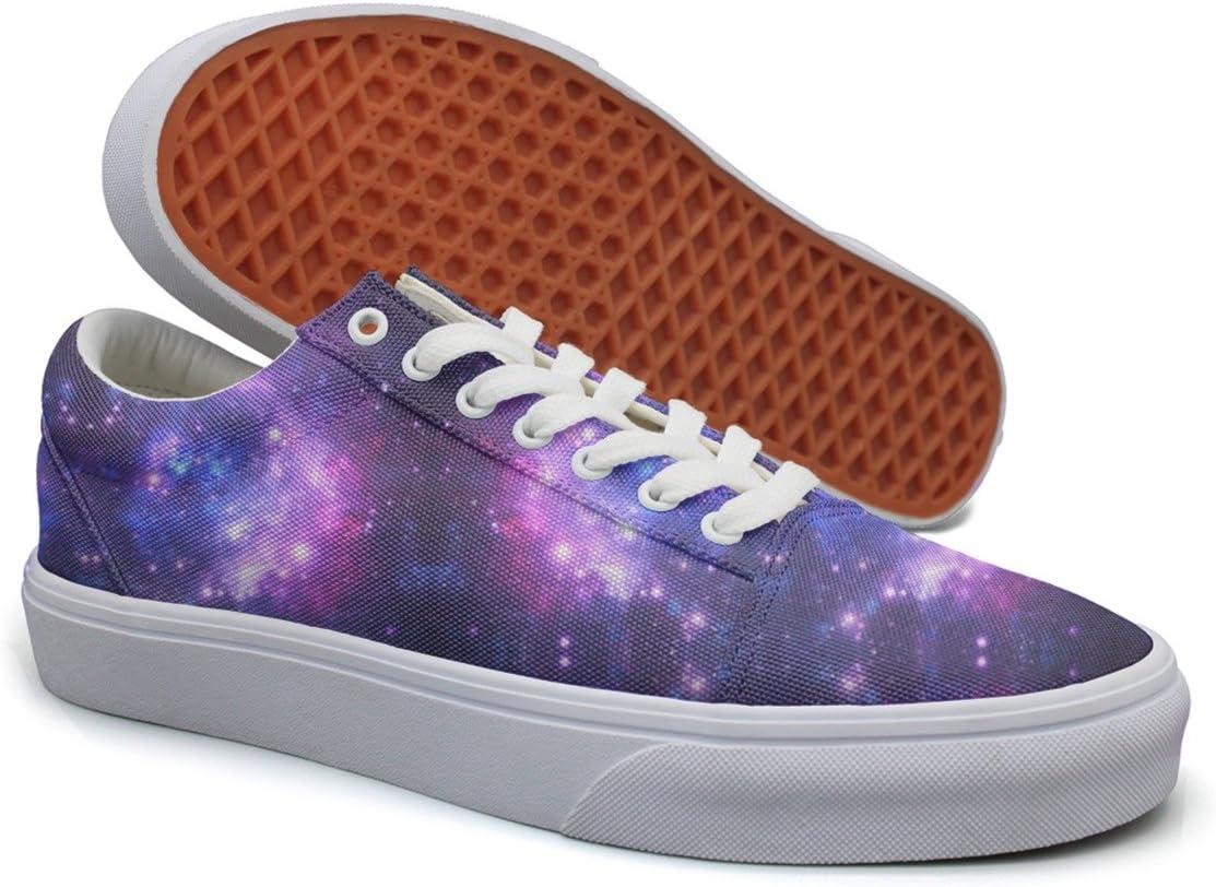 Landsr Purple Space Stars Pattern Mens Canvas Shoes Old School Sneakers