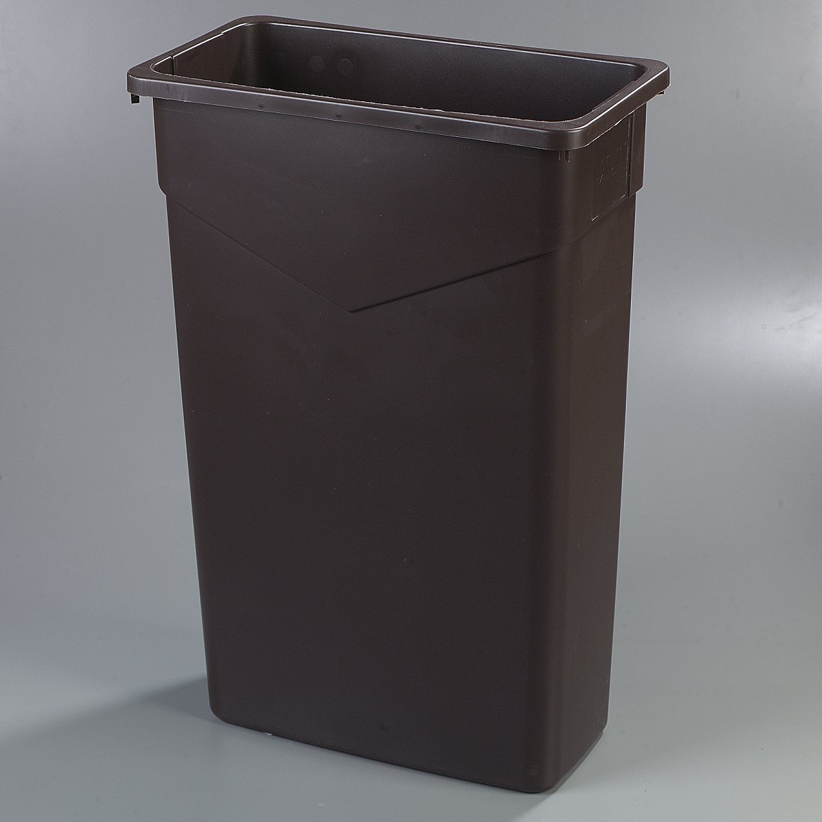 Carlisle 34202323 TrimLine Rectangle Waste Container Trash Can Only 23 Gallon Gray