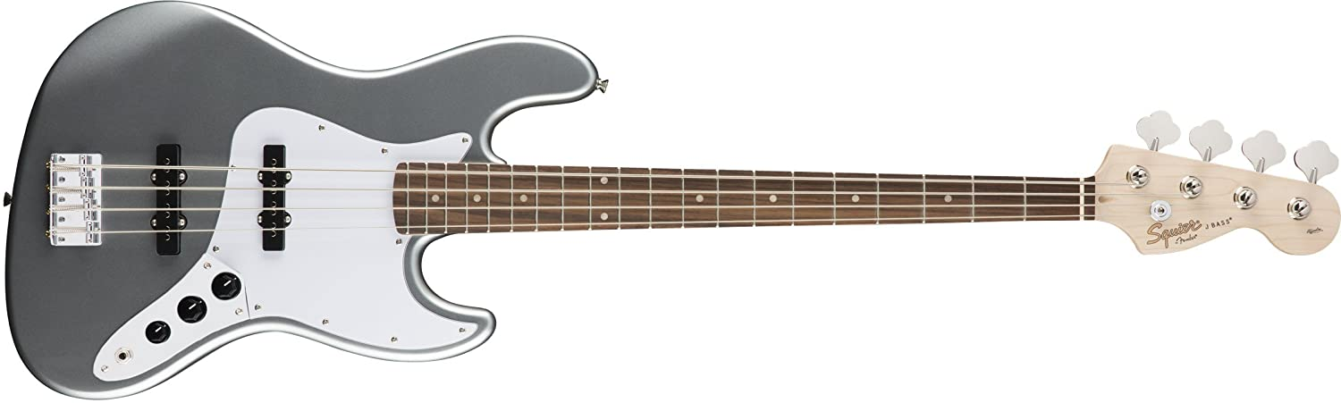 Squier by Fender エレキベース Affinity Series™ Jazz Bass®, Laurel Fingerboard, Slick Silver  スリックシルバー B07FYKMK2V