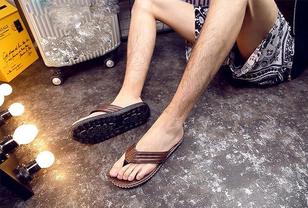 weiwei Mens Flip-Flops,Summer Beach Slippers