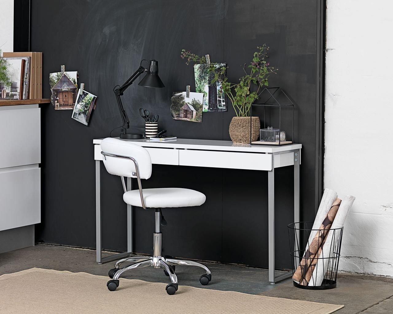 JYSK - Escritorio Stege de color blanco brillante, 40 x 120 cm ...