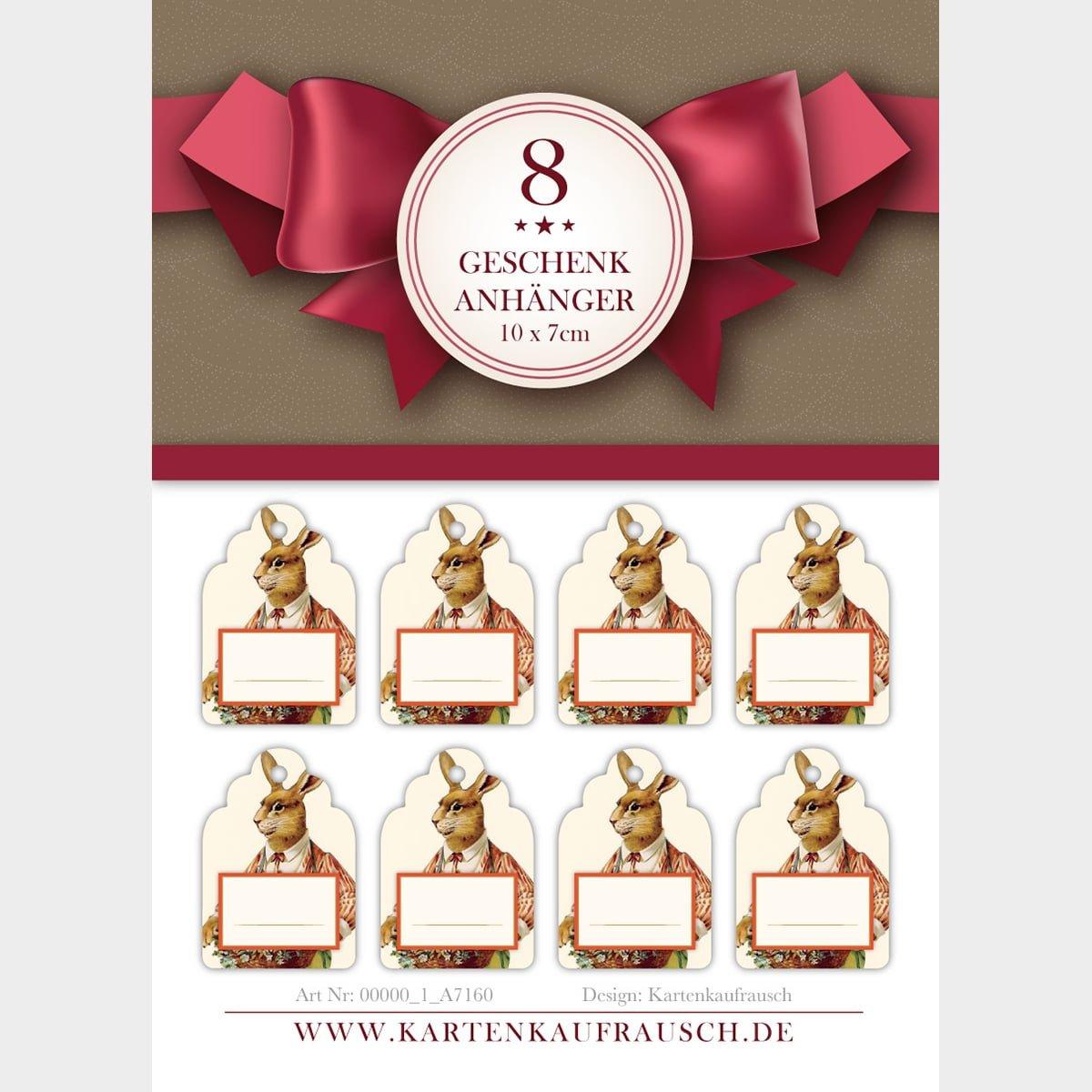 Kartenkaufrausch 80 klassische klassische klassische Vintage Oster Geschenkanhänger   Geschenkkärtchen in 10 x 7cm mit Osterhasen zum Beschriften 6fbff5