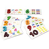 StarMall Montessori Numeral Cards Learn Numbers Counting Early Learning Tool for Preschool Toddlers Kids