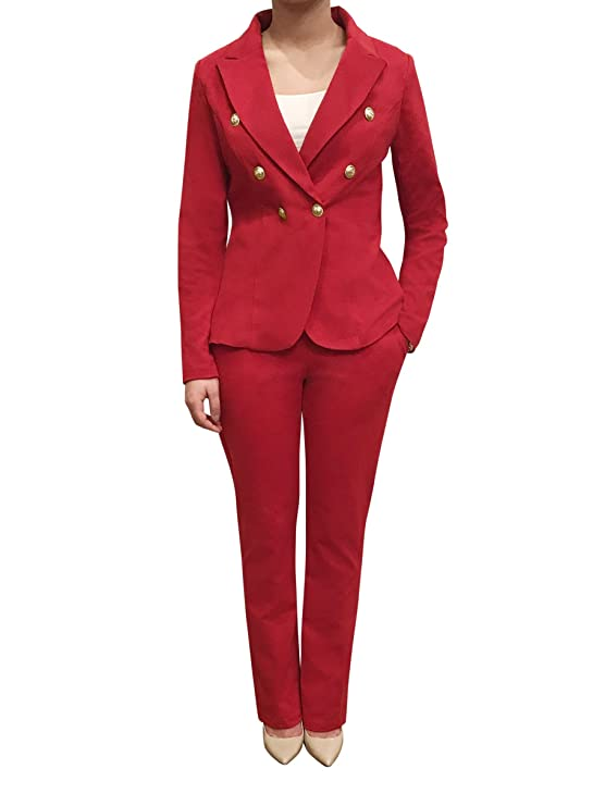 Orly Collection Womens Double Breasted Casual Work Office Blazer Jacket  With Gold Button On The Sleeves Made In Usa by Orly Collection