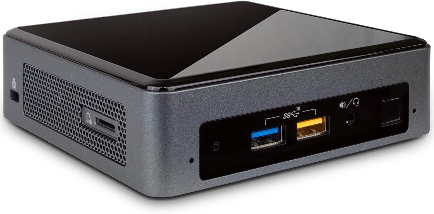 Intel NUC 8i7BEK Mini Desktop, Intel Quad-Core i7-8559U Upto 4.5GHz, 16GB RAM, 512GB SSD, HDMI, Thunderbolt 3, Card Reader, Wi-Fi, Bluetooth, Windows 10 Pro