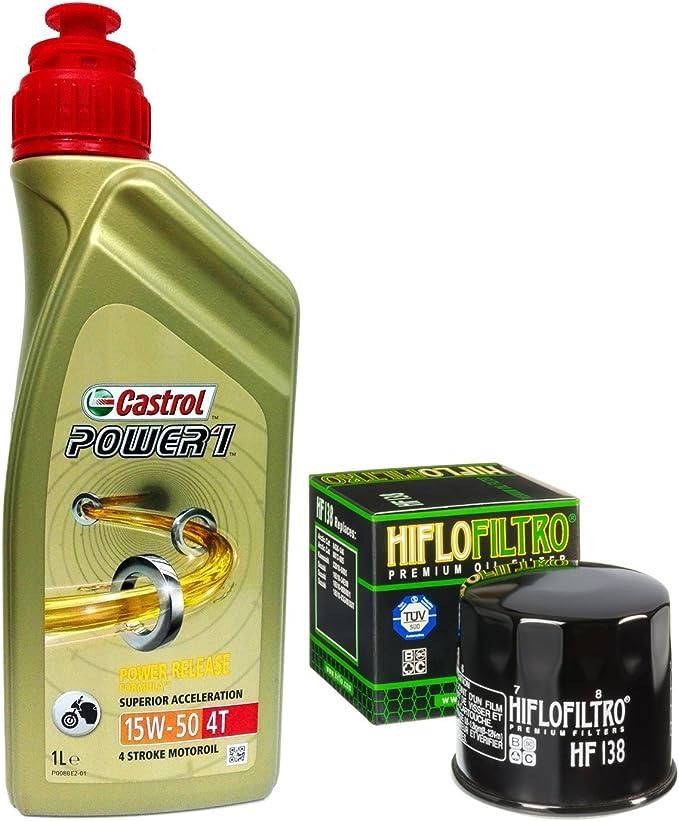 4l Castrol Power 1 15w50 Oil Filter Hiflofiltro Hf138 Auto