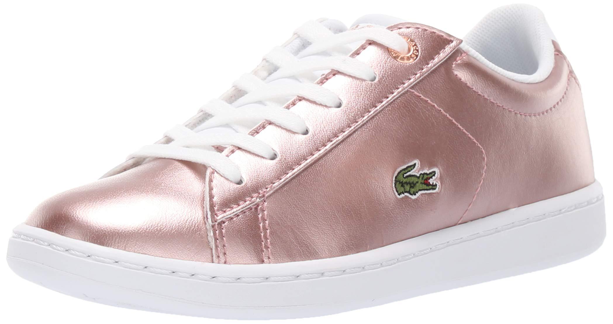 Lacoste Unisex Carnaby EVO Sneaker, Pink/White