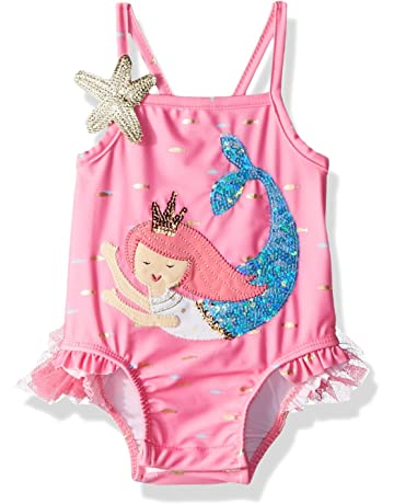 a1ab4cf483 Mud Pie Baby Girls Mermaid Ruffle One Piece Swimsuit