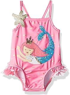 1ed6729f95e Amazon.com: Mud Pie Baby Girls Mermaid Ruffle Rash Guard 2 Piece ...