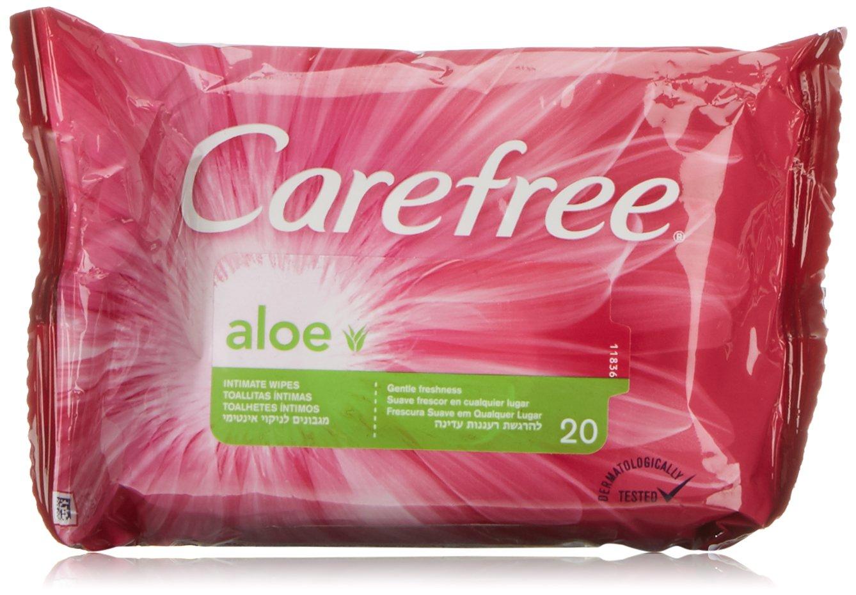 Amazon.com : CAREFREE 2 x 20 UDS Aloe Intimates Wipes by Carefree : Beauty