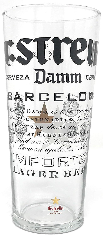 Estrella Damm - Vaso de pinta con marca CE (20 oz/568 mililitros)