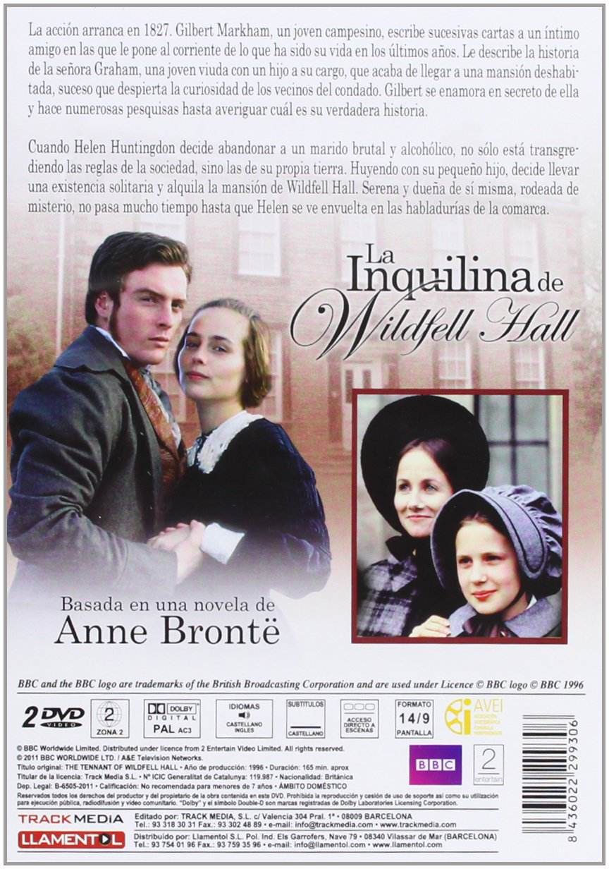 La inquilina de Wildfell Hall [DVD]: Amazon.es: Tara Fitzgerald, Toby Stephens, Rupert Graves, Mike Barker: Cine y Series TV