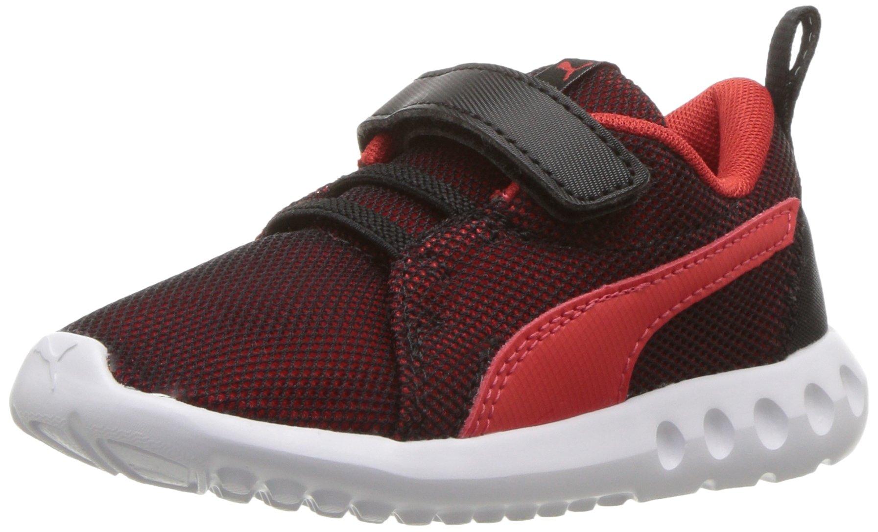 17db320c1c PUMA Baby Carson 2 Breathe Velcro Kids Sneaker, Black-Flame Scarlet, 10 M  US Toddler