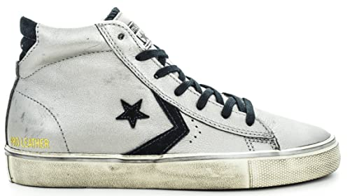Converse Metallic Donna Vulc PRO Leather Distressed Leather Mid rvHrq