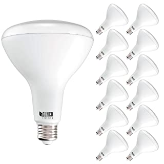 Sunco Lighting 12 Pack BR40 LED Bulb, 17W=100W, Dimmable, 2700K Soft White, E26 Base, Indoor Flood Light for Cans - UL & Energy Star