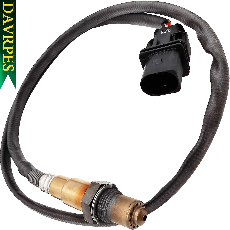 DAVRPES 17025 LSU 4.9 WideBand Oxygen Sensor PLX AEM 0258017025 30-4110 30-0300 30-0310 For Chevrolet Ford Honda Toyota 5 Wires X Series AFR Inline Controller UEGO Air and Fuel Ratio Gauge Kit Sensor/…