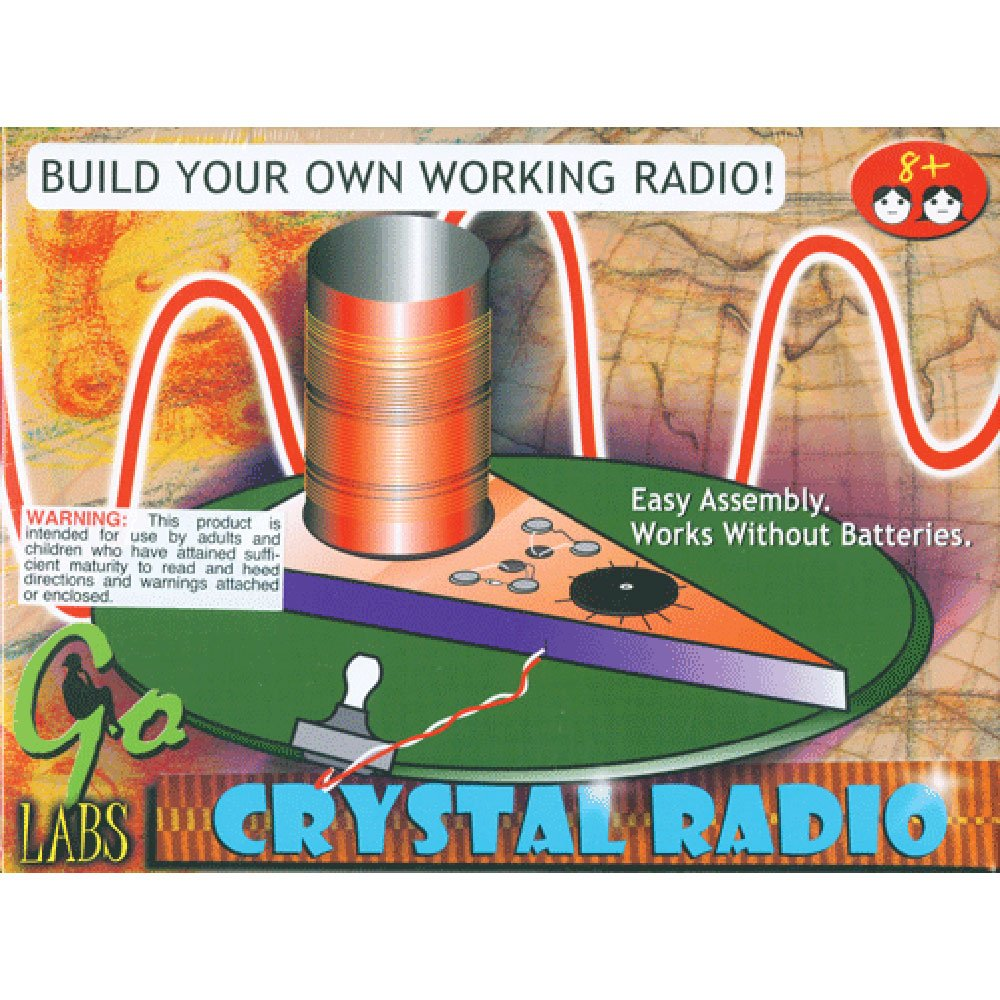Edu Toys Crystal Radio Kit Build Your Own Diy Diode For Low Impedance Headphones Stem Project No Tools Or Batteries Required Games
