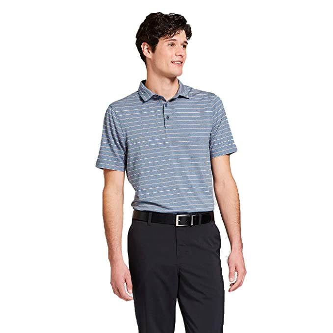 8c9a8be6ce02 Champion C9 Men's Multi Striped Golf Polo Shirt - (Cruising Blue Heather,  Small)