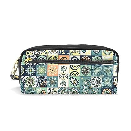 1e95cf94c054 Amazon.com : Pencil Case Vintage Marble Mexican Ceramic Tile ...