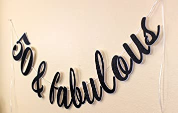 amazon com all about details 50 fabulous cursive banner 1set