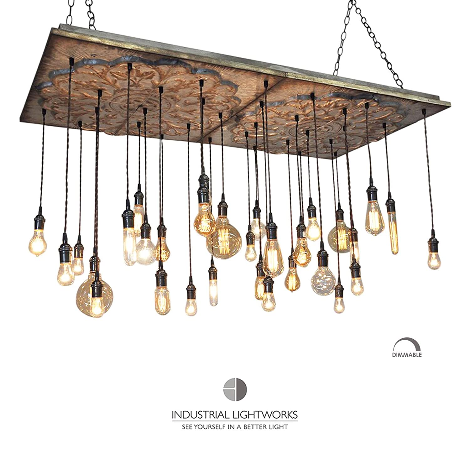 super popular 453aa 6a745 Amazon.com: Antique Tin Chandelier - LIMITED QUANTITIES - 32 ...