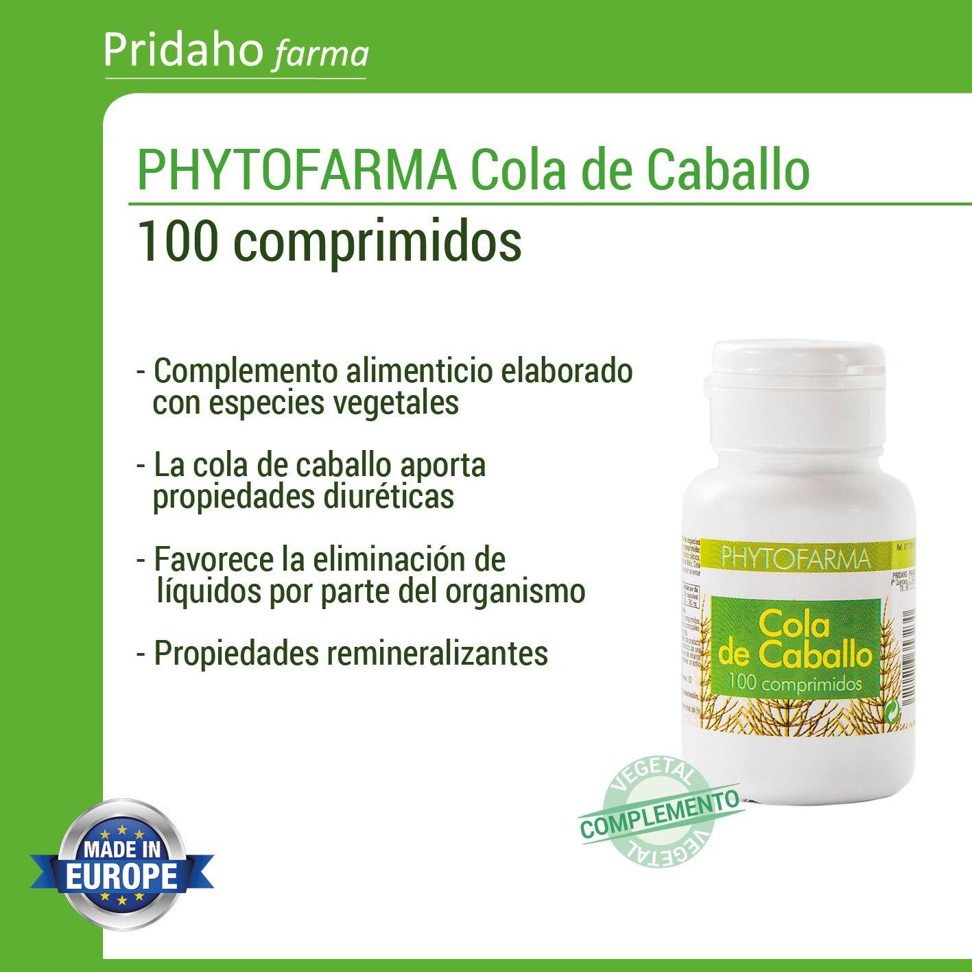 PHYTOFARMA Cola de Caballo 100 comprimidos: Amazon.es: Salud y cuidado personal